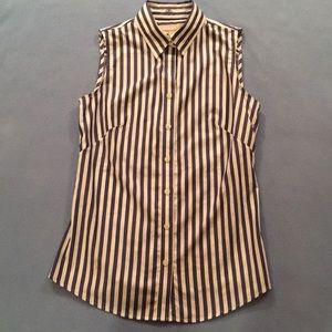 Banana Republic Striped Sleeveless Shirt!